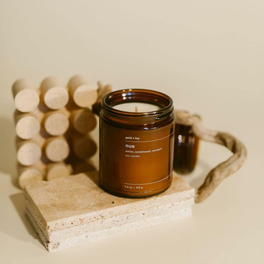nue 7.5 oz. soy candle | Trada Marketplace