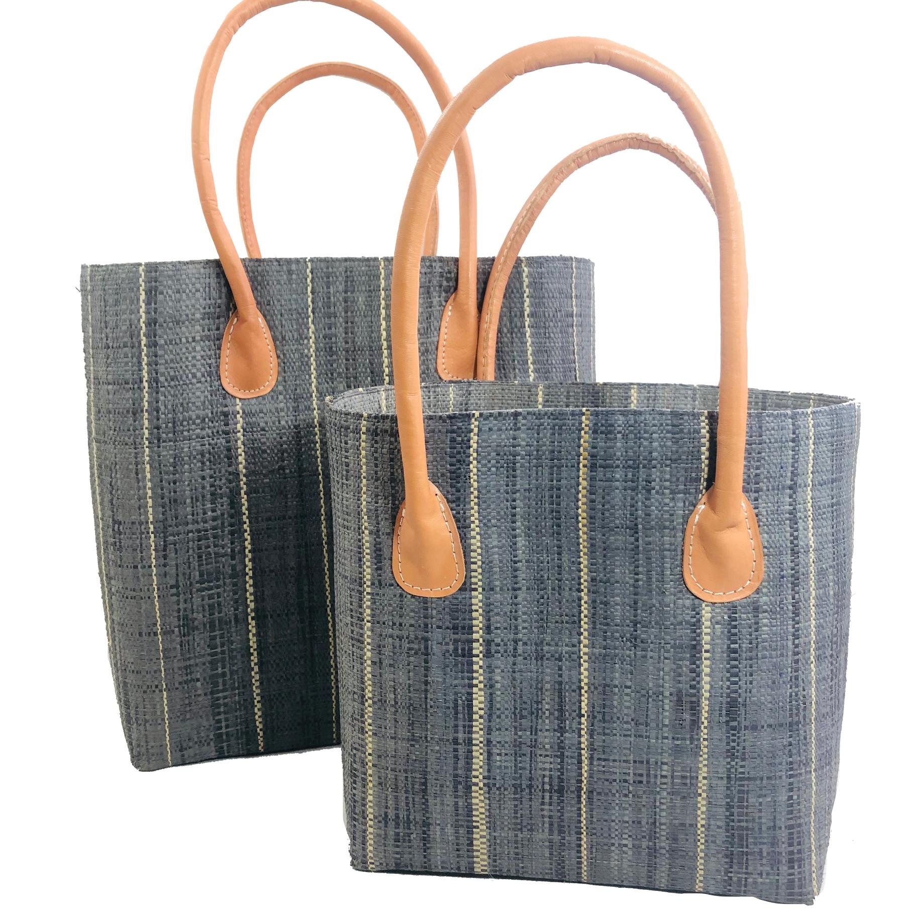Soubic Pin Stripes Basket - Grey | Trada Marketplace
