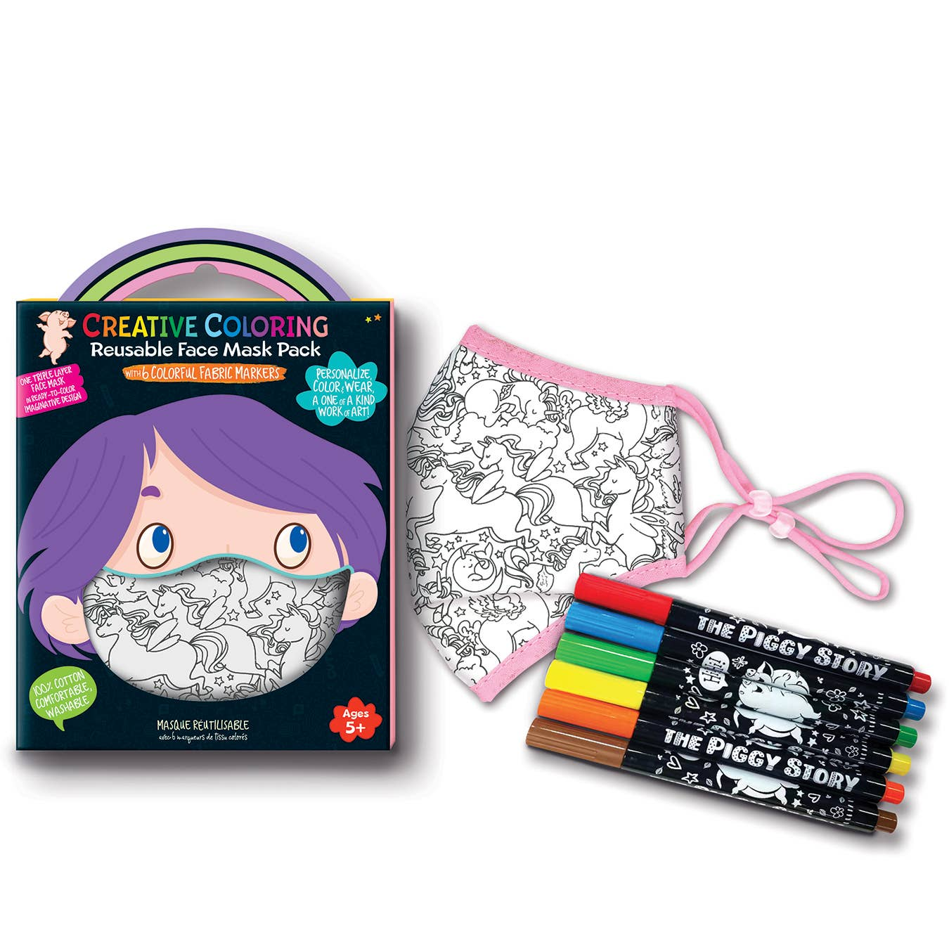 Creative Coloring Face Mask Pack- Unicorn Fantasy   Trada Marketplace