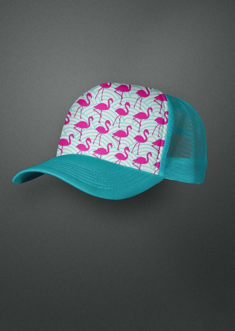 Flamingo Wave Trucker Hat | Trada Marketplace