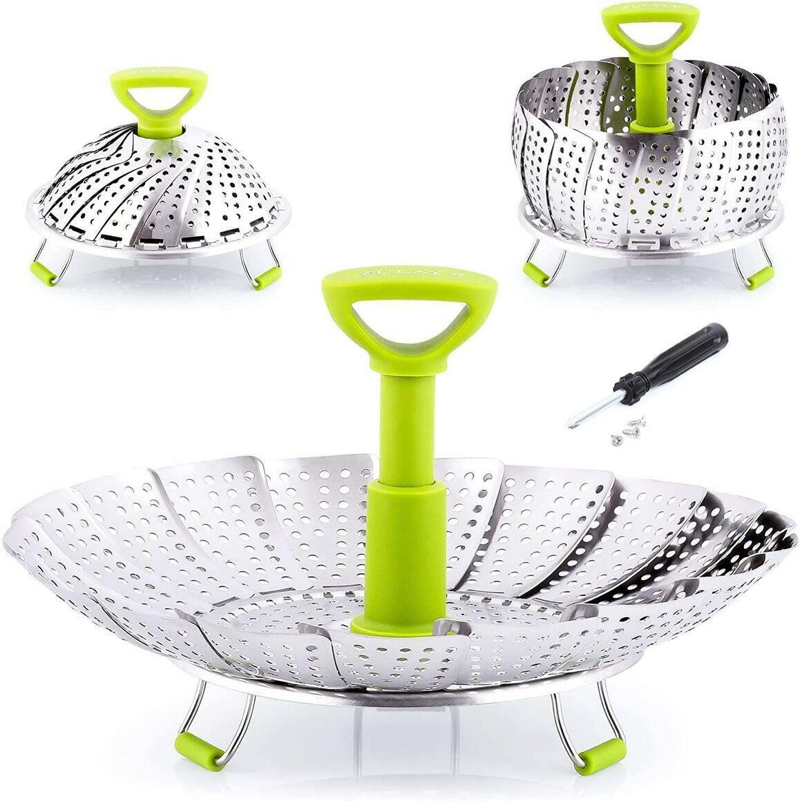 Adjustable Vegetable Steamer Baskets For Cooking | Trada Marketplace