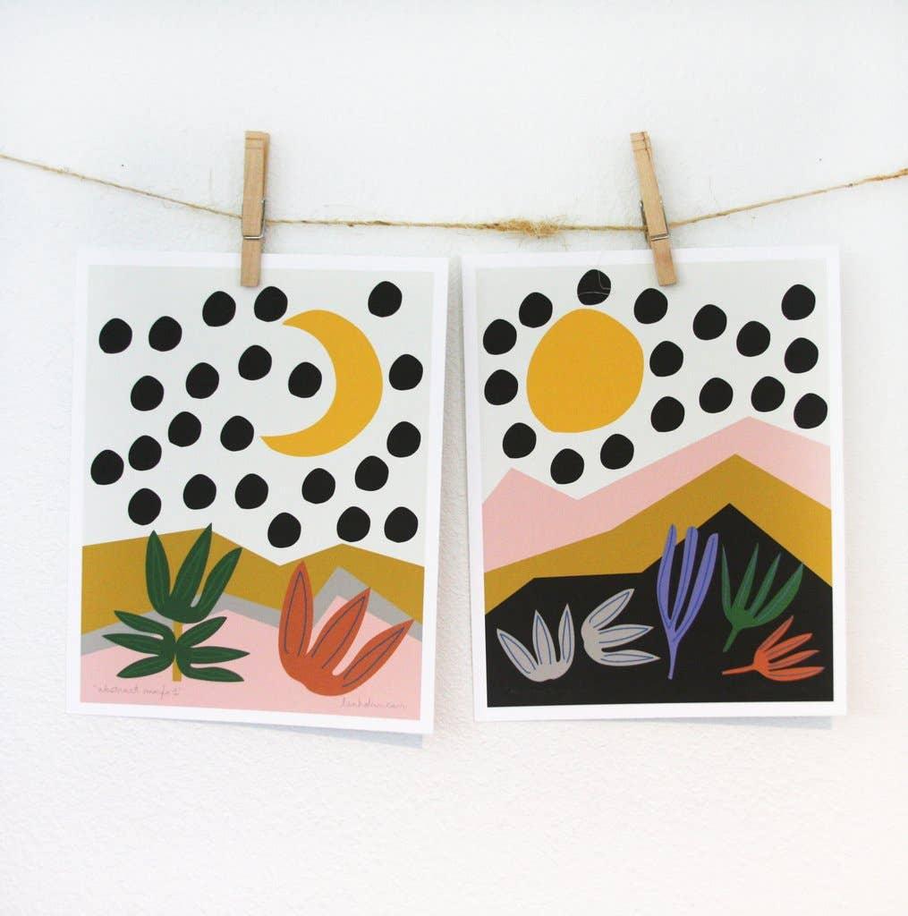 Abstract Marfa Art Print Set | Trada Marketplace