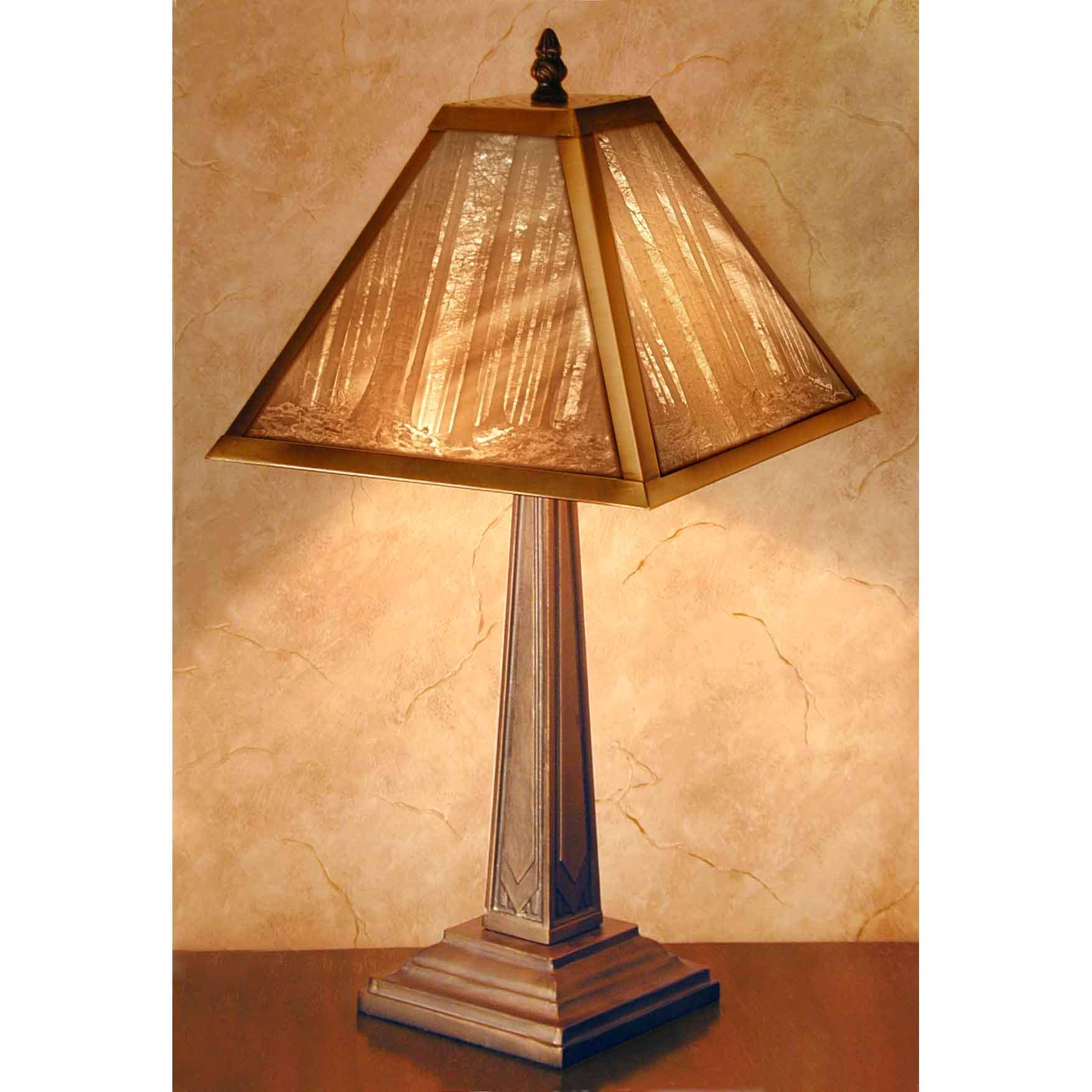 "Mission Style Lithophane Table Lamp ""Deep Woods""   Trada Marketplace"