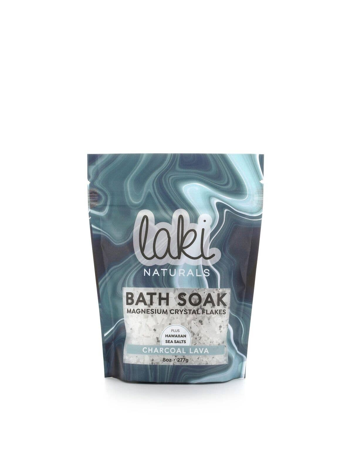 8 oz Charcoal Lava Magnesium Flake Soak | Trada Marketplace