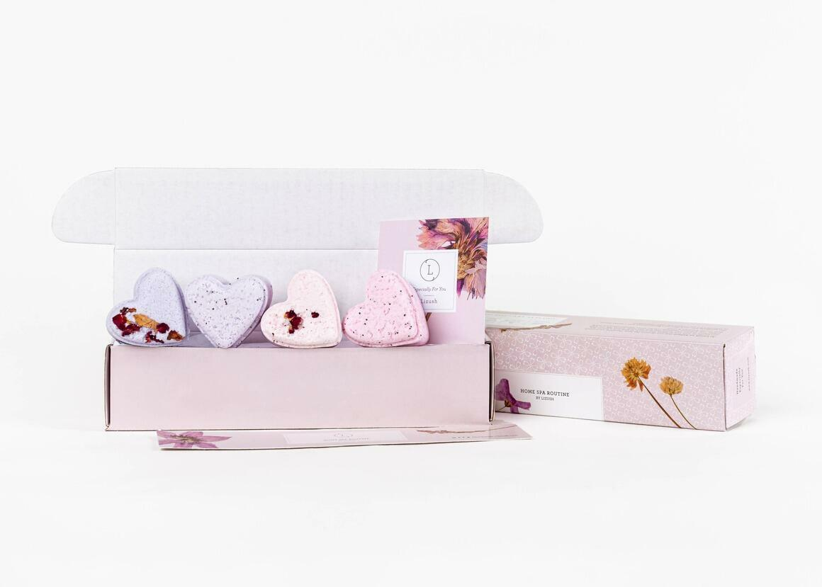 New Heart shaped Lavender Shower steamers 50 Gift sets | Trada Marketplace