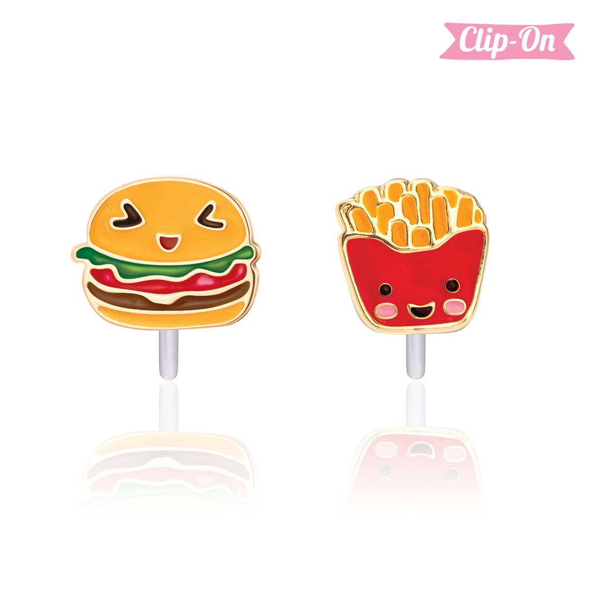 """""""The Perfect Pair""""- Fast Food Clip-On Earrings 