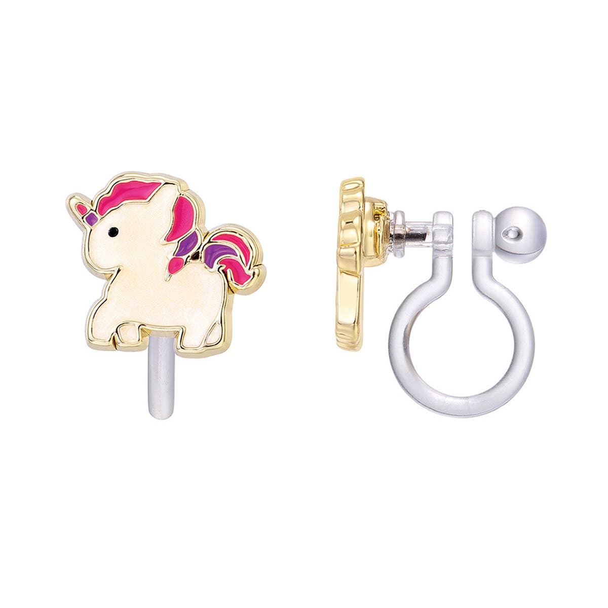 CLIP ON Cutie Earrings- Magical Unicorn | Trada Marketplace