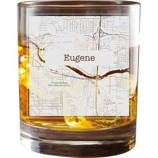 Eugene College Town Glasses (Set of 2)   Trada Marketplace