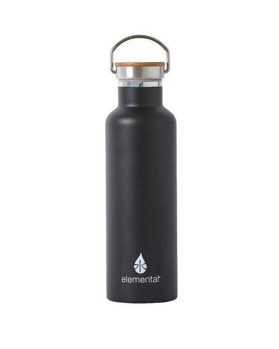 Classic Matte Stainless Water Bottle - Black   Trada Marketplace