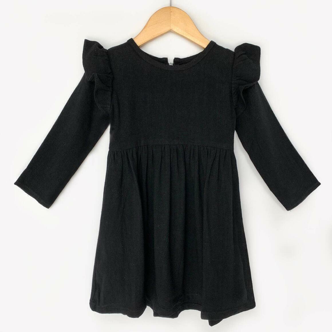 Black Long Sleeve Linen Dress    Trada Marketplace