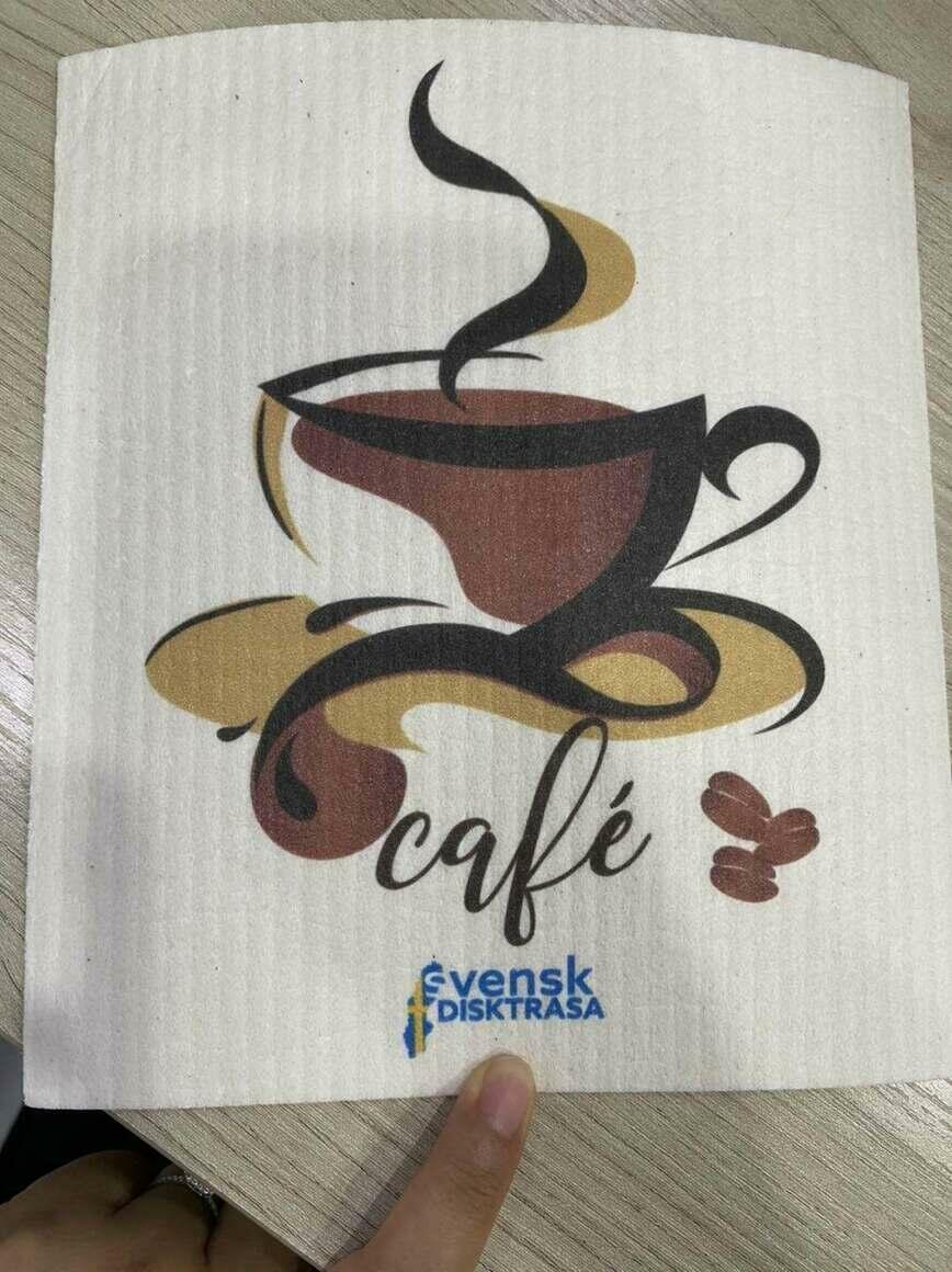Coffee and Cafe Swedish Dishcloth   Trada Marketplace