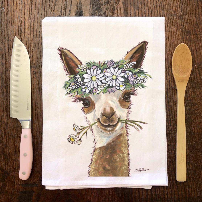 Alpaca Tea Towel, Alpaca Flour Sack Towel, Kitchen Decor   Trada Marketplace