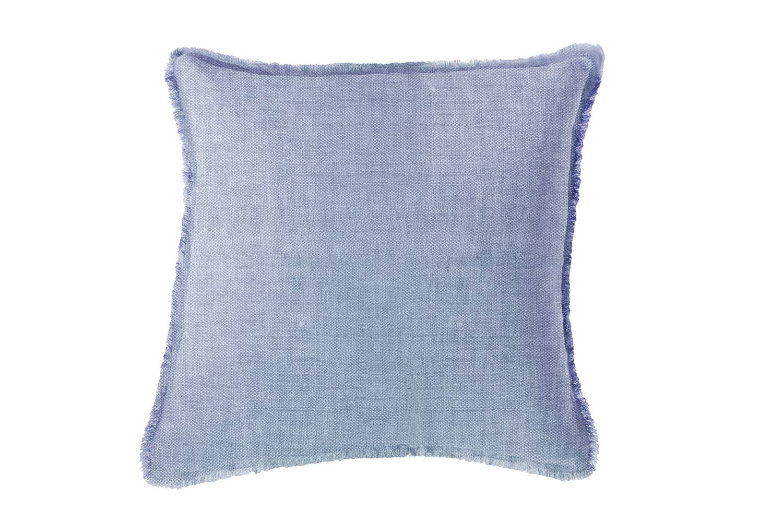 Chambray Blue Soft Linen Pillow   Trada Marketplace
