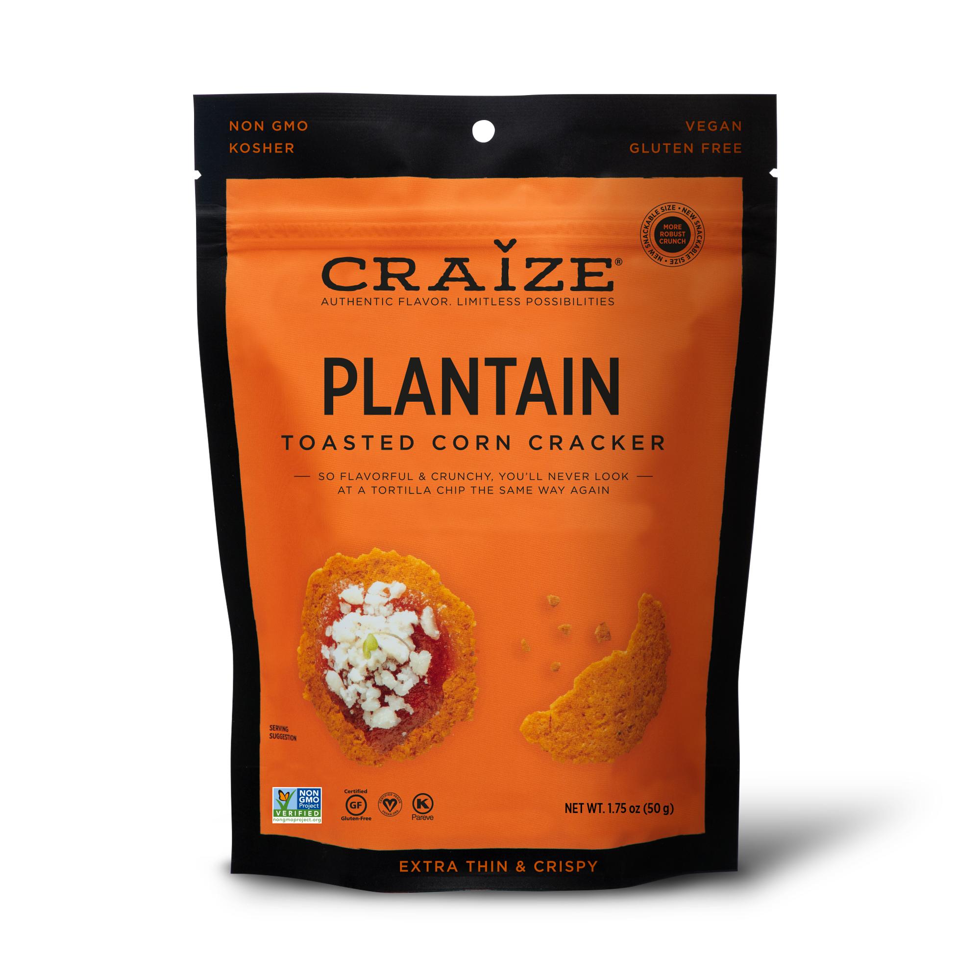 Plantain Toasted Corn Crackers 1.75oz | Trada Marketplace