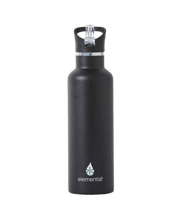 Classic Matte Sport Stainless Water Bottle -  Black   Trada Marketplace