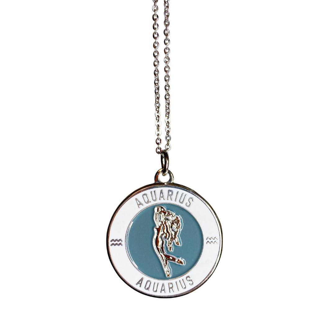 Aquarius Enamel Zodiac Pendant   Trada Marketplace