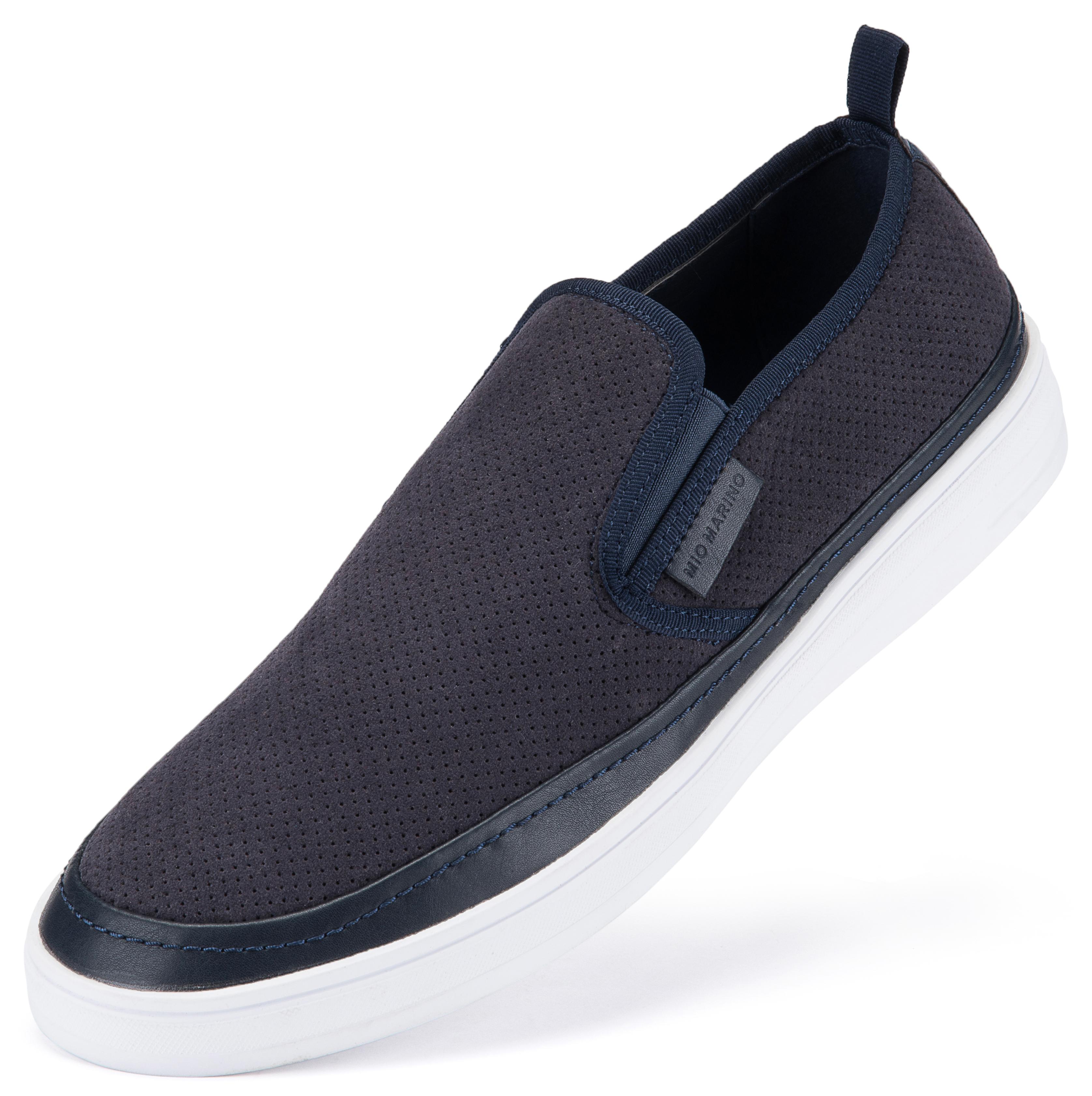 Suede Fashion Sneaker Navy Blue | Trada Marketplace