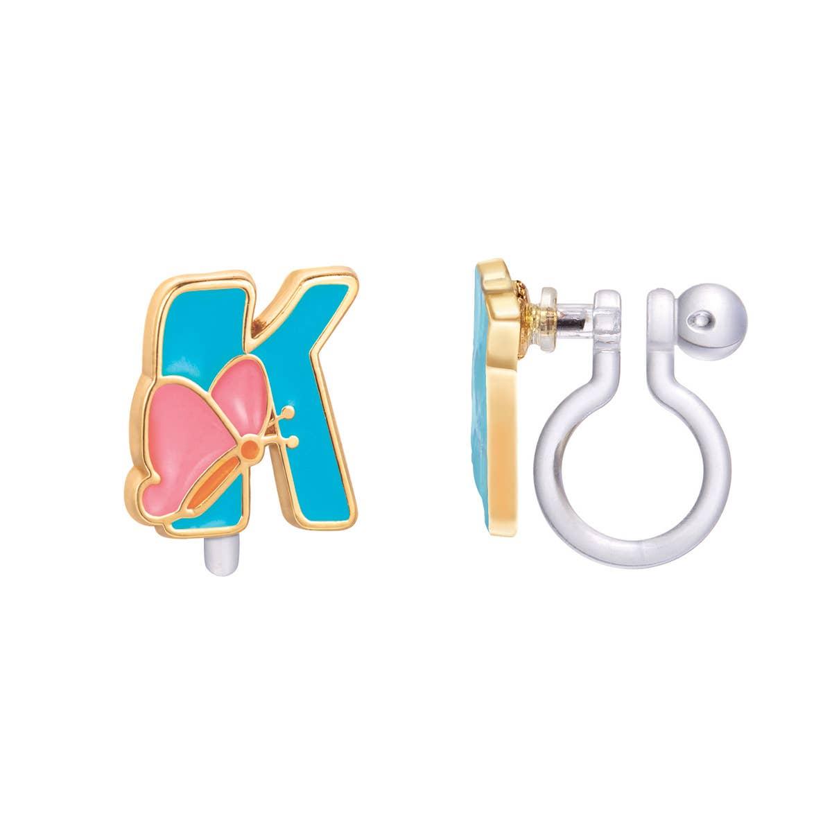 CLIP ON Cutie Initial Earrings- K | Trada Marketplace