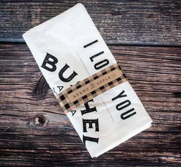 Bushel and a Peck Flour Sack Towel   Trada Marketplace