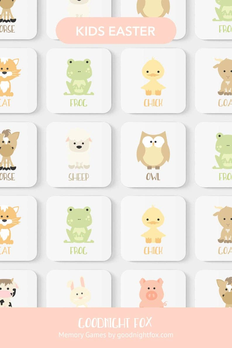 Farm Animal Memory Game   Trada Marketplace