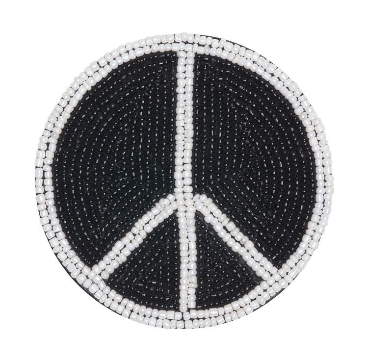 Beaded Peace Coaster / Set of 4   Trada Marketplace