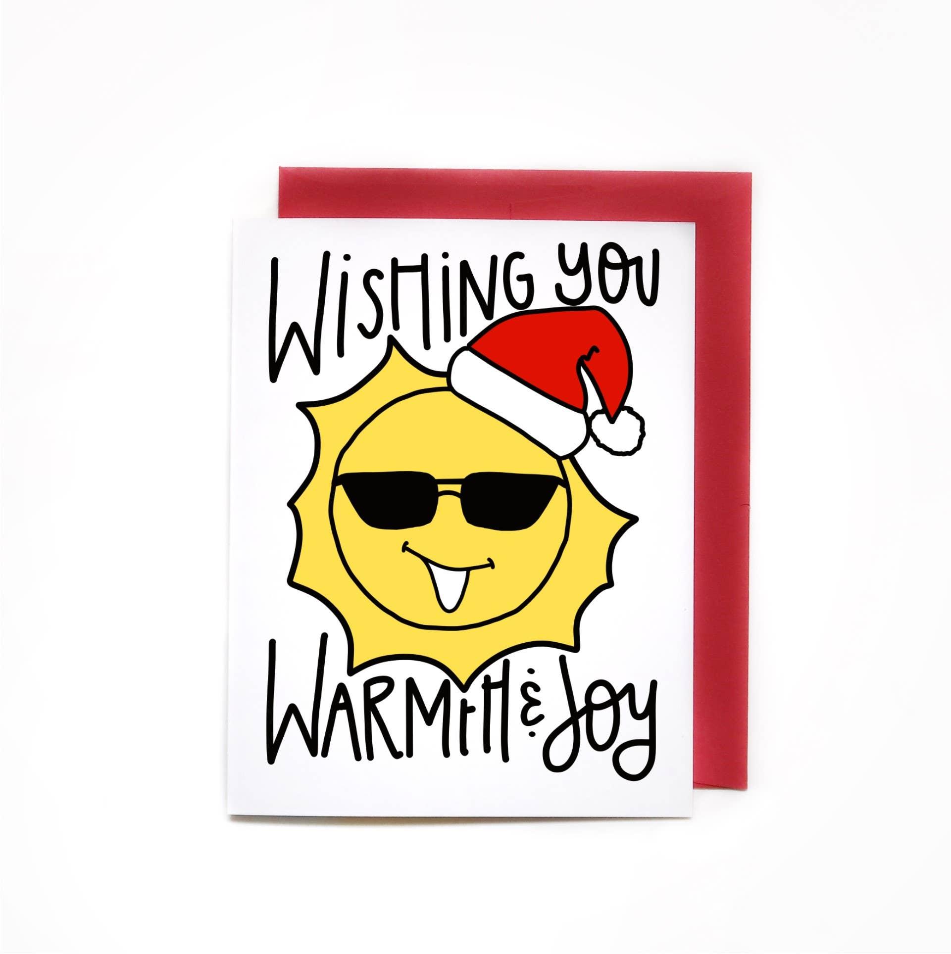 Wishing You Warmth and Joy - Sunny Holiday Card | Trada Marketplace