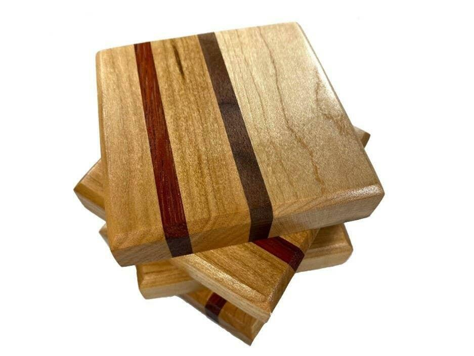 Mixed Wood Coasters | Trada Marketplace