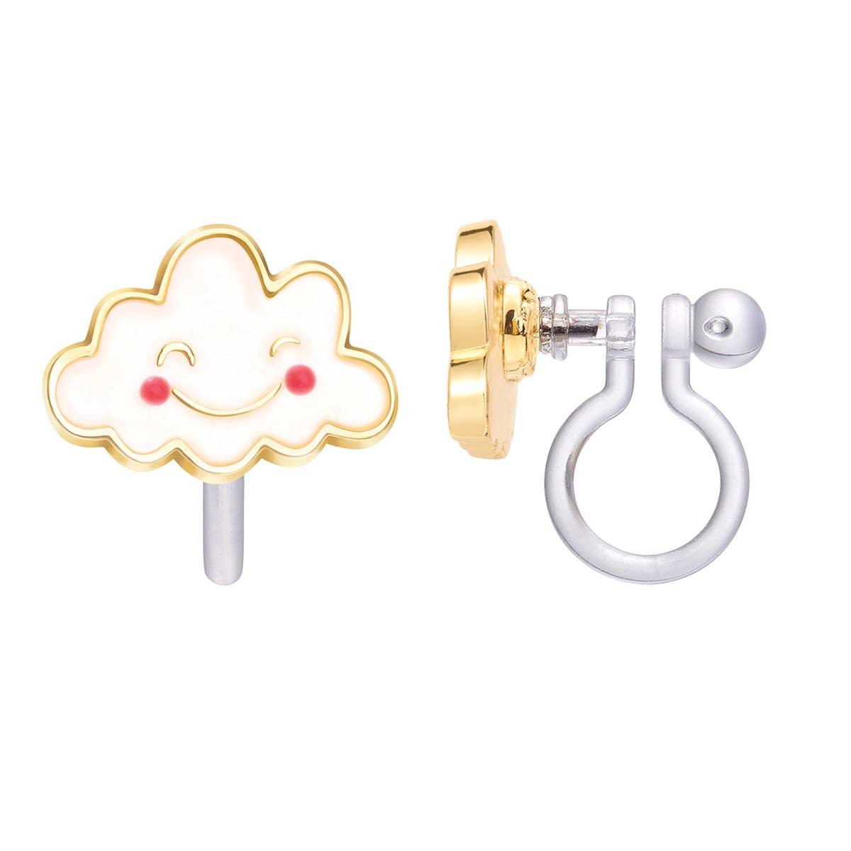 CLIP ON Cutie Earrings- Happy Cloud | Trada Marketplace